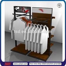 Apparel Display Stands Tsdw100 Polo Shirts Apparel Display RacksSlatwall Sports Shops 5