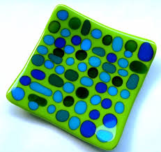 fused glass plate work