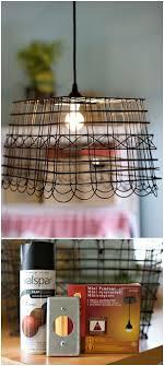diy recycled basket lampshade tutorial