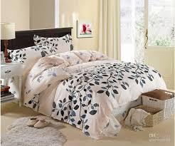 cream grey blue queen size cotton bedding sets duvet cover sheet
