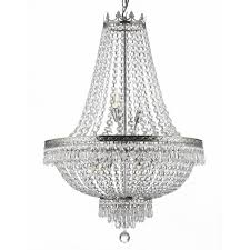 gallery 9 light silver empire crystal chandelier free regarding stylish home silver crystal chandelier designs