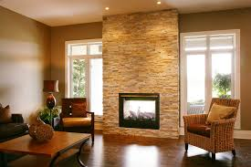 indoor outdoor fireplace contemporary