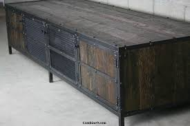 Reclaimed Media Cabinet Combine 9 Industrial Furniture Industrial Media Console