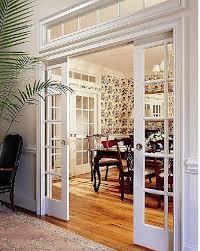 note - - Sliding doors / Pocket Doors and a Transom Window