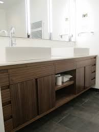 contemporary wood floating bathroom and vanity cabinet set