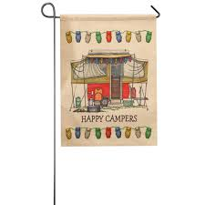 Small Picture Aliexpresscom Buy Vintage Campers design garden flag 3246cm