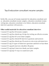 education consultant cover letter top 8 education consultant resume samples 1 638 jpg cb 1428657683