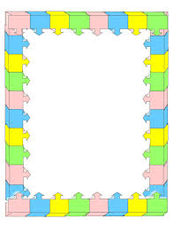 Simple Borders For Math Chart Clip Art Library