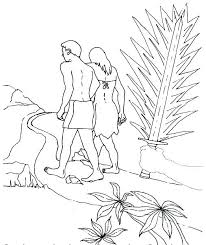 Adam And Eve Coloring Pages For Toddlers Printable And Eve Coloring