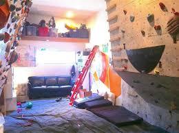 build their very own indoor rock climbing wall children