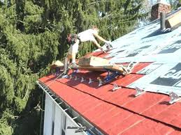 installing sheet metal roofing metal shingles roof installation installing corrugated sheet metal roofing