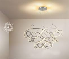 Wave Ceiling Light Amazon Com Vovovo Led Pendant Light Fixture Modern Round