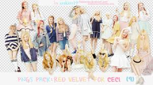 Png Pack Red Velvet For Ceci Magazine Crystal Clear