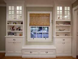 Window Seat Built In Bookcase With Cabinets Griffin Custom Cabinets Window
