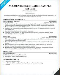accounts receivables resumes accounts receivable sample resume foodcity me