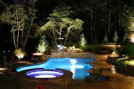 garden landscape lighting ideas around pool in backyard backyard landscape lighting