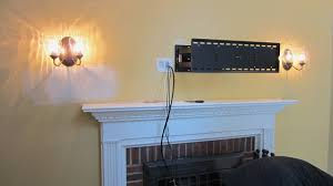 how to hide wires for wall mounted tv over fireplace uk for amazing mounting tv above fireplace hiding wires