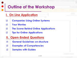 job application questions preparing your online job application workshop ppt download