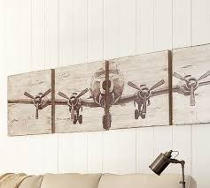 >planked airplane panels set pottery barn planked airplane panels set