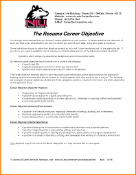 6 Career Objective Statement Examples Catering Resume