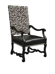 zebra arm chair. Sterling Industries 6071058 Wallace Arm Chair In Patterned Fabric W/ Wood Legs Zebra