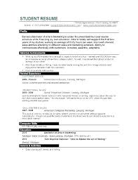 Resume Examples For College Students Best Of Curriculum Vitae
