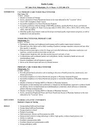 Resume Sample For Nursing Primary Care Nurse Practitioner Resume Samples Velvet Jobs
