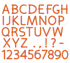 English Alphabet And Numbers Capital Letters And Punctuation