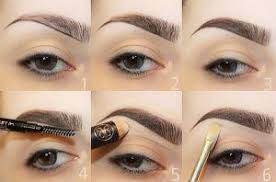 once you have thoroughly cleaned your face and applied a good foundation begin with lining your brows with a brow pencil use a shade that matches your
