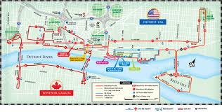 Detroit Marathon Course Maps