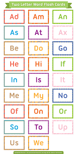 free printable two letter words flash cards them in pdf format at