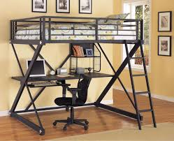 Full size bunk bed with desk King Size Powell Zbedroom Full Size Metal Loft Bed With Desk Bunk Beds Hq Powell Zbedroom Full Size Metal Loft Bed With Study Desk
