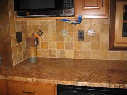 stone tile kitchen countertops. Minimalist Kitchen Design Ideas With Brown Marble Lowes Tile Backsplash, Countertop, And Black Oil Rubbed Maple Wood Cabinet Door Stone Countertops A