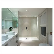 Gap interiors modern bathroom with double shower picture library specialising in interiors lifestyle