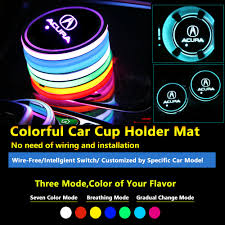 Rsx Cup Holder Light Bulb Details About 2pcs Colorful Led Coaster Atmosphere Car Parts Light Bulbs For Acura Neon Lights