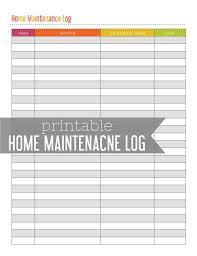 Home Maintenance Log Printable By Lemonlimeprintables On Etsy 3 00