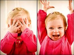 Toddlers love to play hide and seek because they believe they are ...