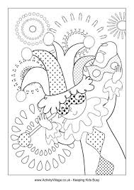 Small Picture Mardi Gras Jester Colouring Page