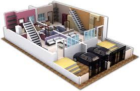 kothari housing 3d view of duplex