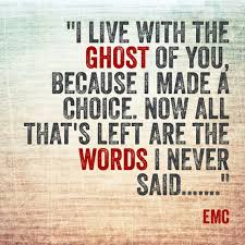 Emc Quote Amazing Emc Quote Entrancing Quotes About Seeing Ghosts 48 Quotes