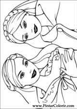 Disegni da colorare barbie la principessa e la povera. Disegni A Dipingere E Barbie Principessa Coloring