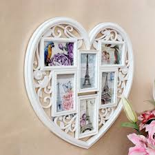 4 6 boxes european heart wall hanging combination frame home art decor wedding photo picture photo frames
