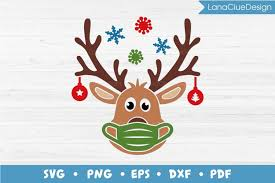 By downloading elk vector logo you agree with our terms of use. Masked Reindeer Svg Cut File Quarantine Christmas 2020 919589 Cut Files Design Bundles