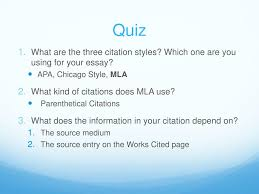 Ppt Citing And Quoting Sources In Mla Powerpoint Presentation Id