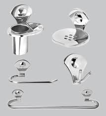 Bathroom accessories Vintage Doyours Glossy Stainless Steel 5piece Bathroom Accessories Set Bathrooms Plus Buy Doyours Glossy Stainless Steel 5piece Bathroom Accessories Set