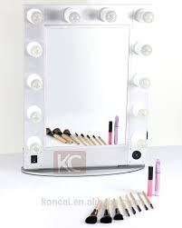 hollywood style make up mirror with led lights lighted makeup mirror with stand with aluminum