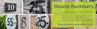 house signs and nameplates lovingly handcrafted in north wales to house numbers and digits for doors to