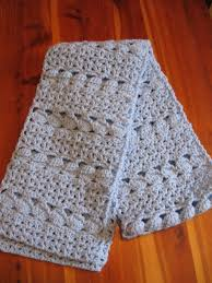 Crochet Patterns For Scarves Impressive Cozy Blue Crochet Scarf AllFreeCrochet