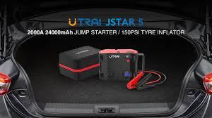 <b>UTRAI 4</b> IN 1 24000mAh <b>Jump Starter</b> With Air Compressor Jstar 5 ...