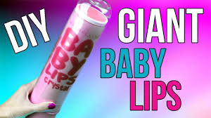 diy crafts how to make a giant baby lips diys tinted lip balm bubblegum scented cool diy project